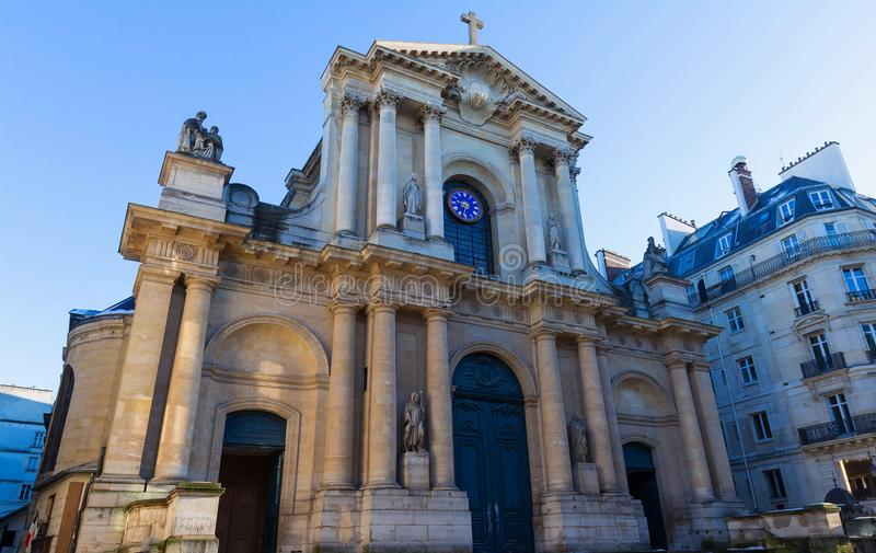 Church of Saint-Roch - a late Baroque church in Paris, dedicated to Saint Roch. royalty free stock photography
