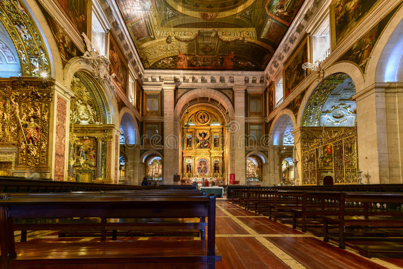 Church of Saint Roch - Lisbon, Portugal. Lisbon, Portugal - November 25, 2016: Church of Saint Roch or Igreja de Sao Roque in Lisbon, Portugal stock photos