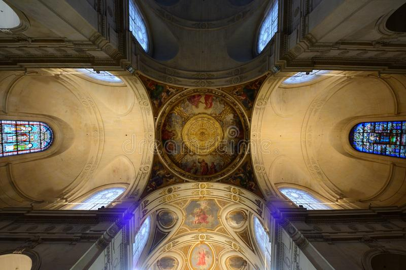 The church Saint-Roch in Paris royalty free stock image