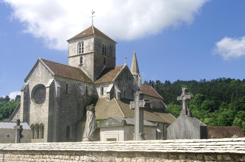 Church of Saint-Symphorien in Nuits Saint Georges royalty free stock photography