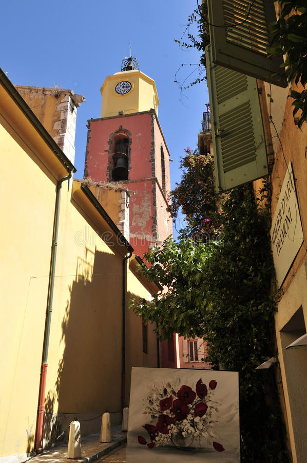 Church of Saint Tropez royalty free stock image