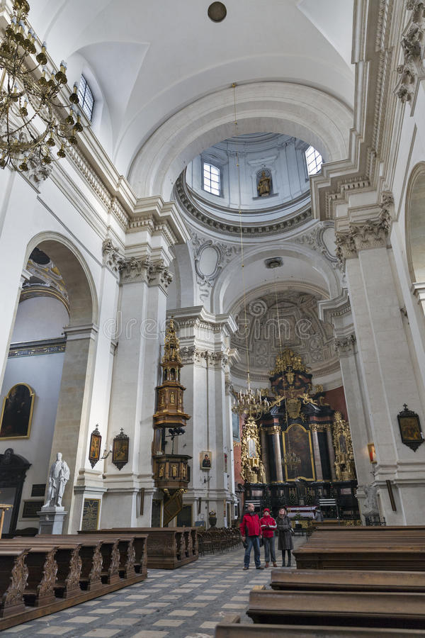 Church of Saints Peter and Paul interior in Krakow, Poland. royalty free stock images