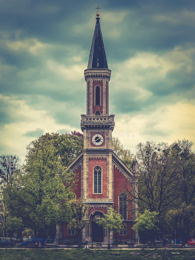 Church in Salzburg, Austria. Beautiful scenery of a church located in Salzburg, Austria stock image