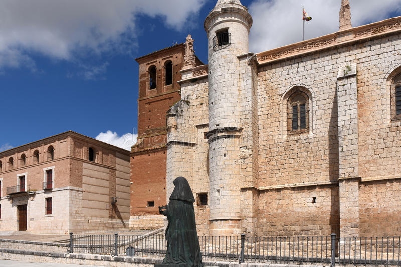 Church of San Antolin and the Houses of the. Treaty in Tordesillas, Valladolid province, Castilla y Leon, Spain stock photography