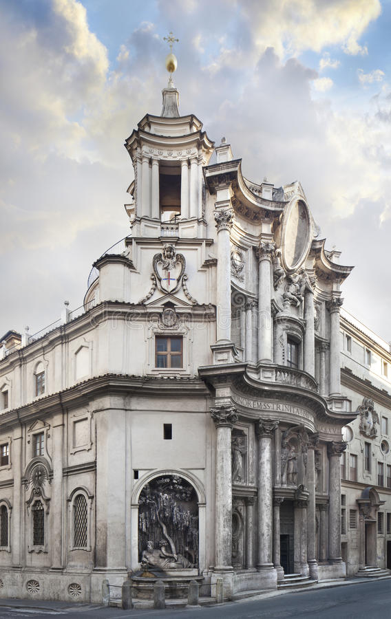 Download Church Of San Carlo Alle Quattro Fonts ROME Stock Image - Image: 29578499