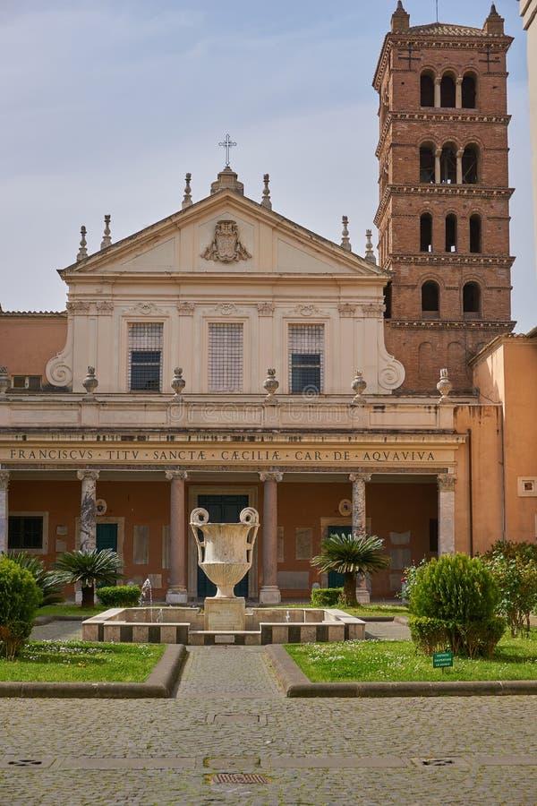 Church san cecilia stock photo