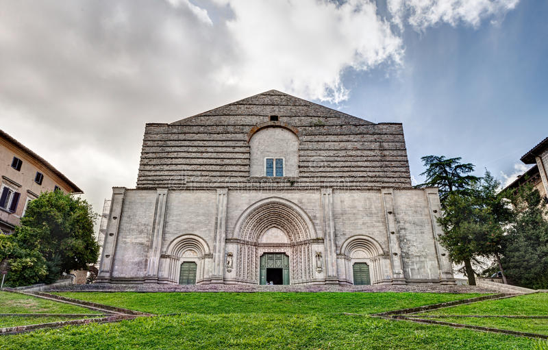 Church of San Fortunato in Todi, Italy. The antique catholic church of San Fortunato in Todi, Umbria, Italy stock images