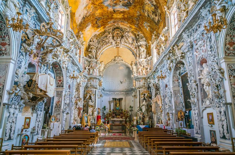 Church of San Francesco in Mazara del Vallo, town in the province of Trapani, Sicily, southern Italy. Mazara del Vallo is a town and comune in the province of royalty free stock photography