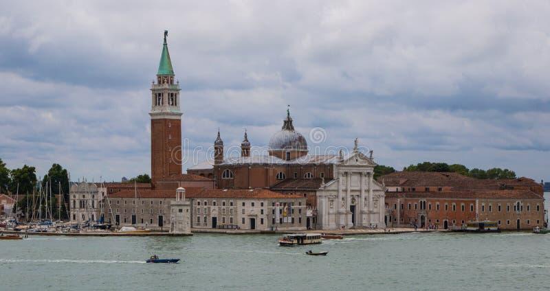 Church of San Giorgio Maggiore. The Church of San Giorgio Maggiore in Venice under a cloudy sky royalty free stock photography