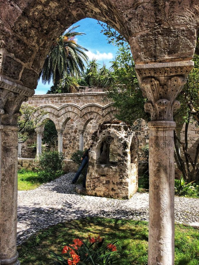 Church of San Giovanni degli Eremiti. In Palermo - Sicily stock photography