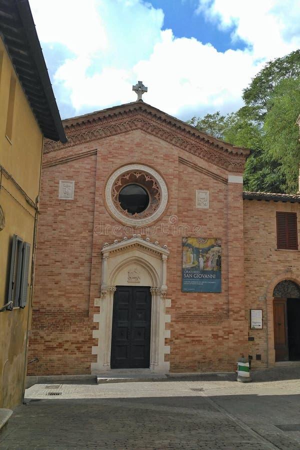Church of San Giovanni - Urbino, Italy stock photography