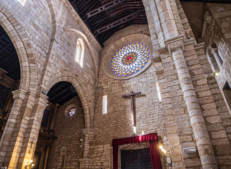 Church of San Lorenzo, Called church fernandina, It was built during the second half of the century XIII, Cordoba, Spain. Church of San Lorenzo, Called church royalty free stock photos