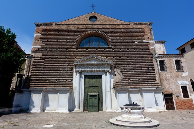 Church San Marcuola, Venice, Venezia, Italy, Italia. The San Marcuola church dedicated to the saints Hermagoras and Fortunatus in the  sestiere of Cannaregio royalty free stock images