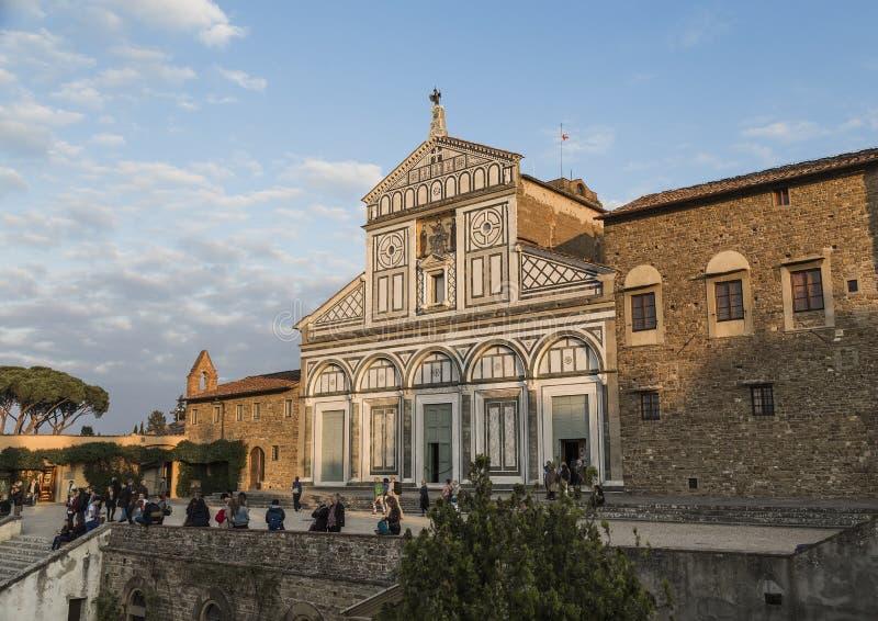 The Church of San Miniato al Monte royalty free stock image