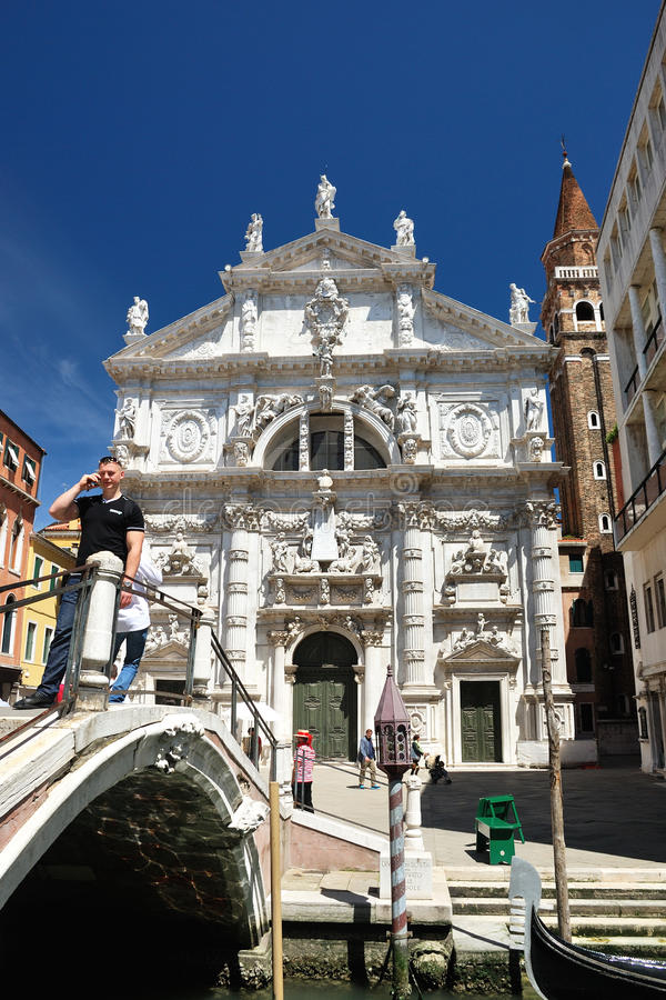 Church San Moise in Venice stock photo