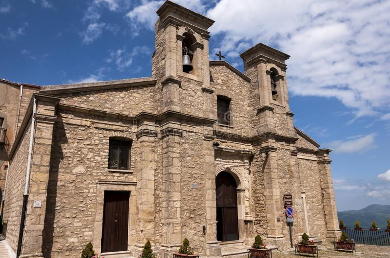 Church of San Paolo. In Gangi Palermo, one of the most beautiful village in Italy royalty free stock images
