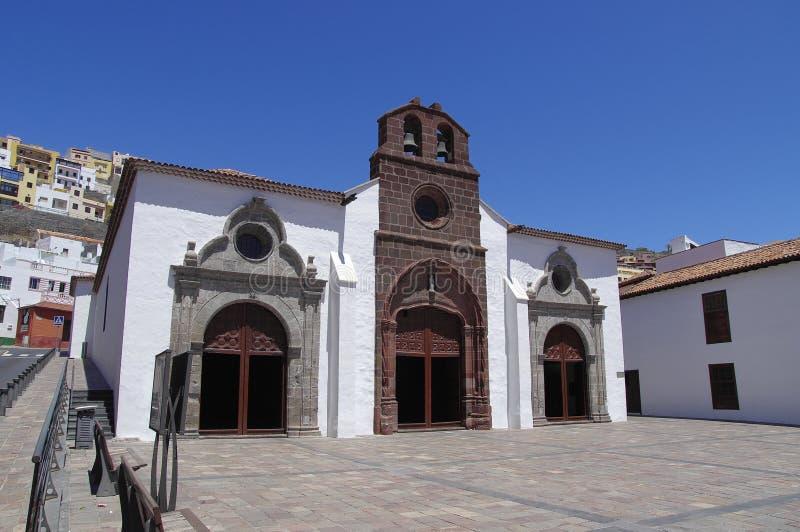 The church in San Sebastian de la Gomera, Canary Islands royalty free stock photography