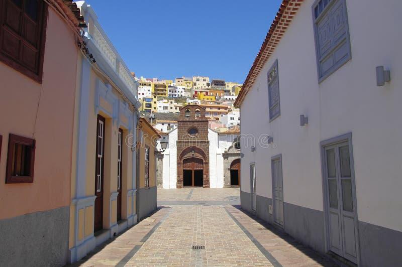 The church in San Sebastian de la Gomera, Canary Islands stock photos