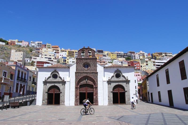 The church in San Sebastian de la Gomera, Canary Islands stock photo