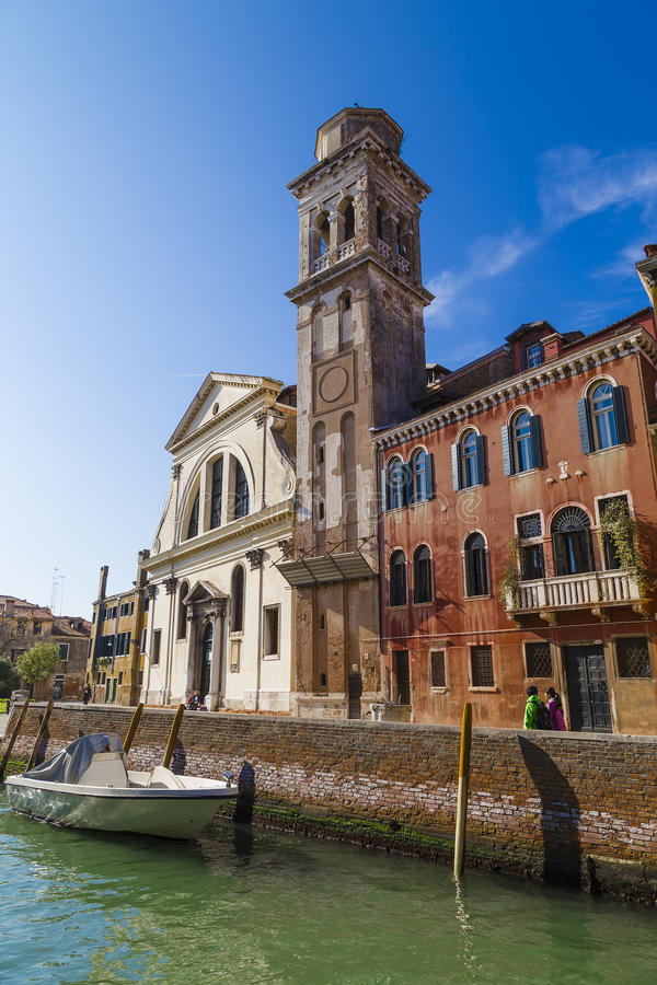 Church of San Trovaso in Dorsaduro. Venice. Italy royalty free stock images