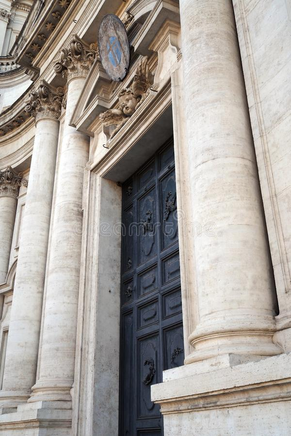 Church Sant` `Agnese in Agone in Rome, Italy royalty free stock photography