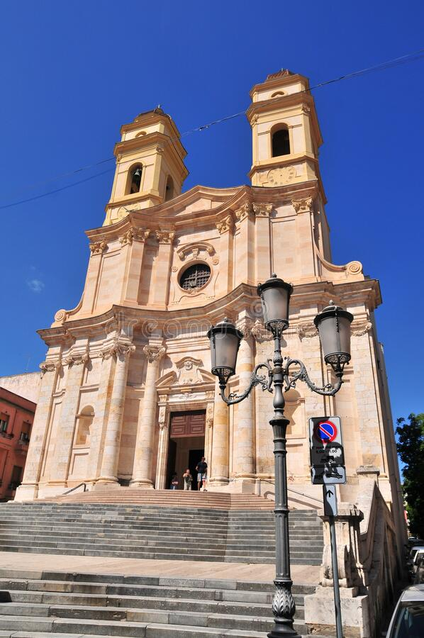 Church of Sant Anna Chiesa di Sant`Anna front view royalty free stock photos