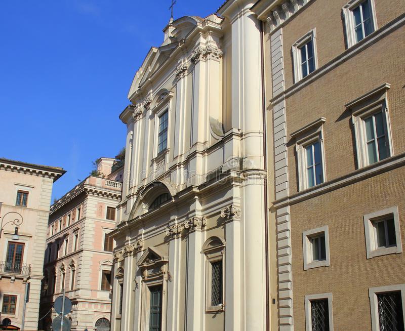 Church of the Sant`Apollinare in Rome, Italy stock photography