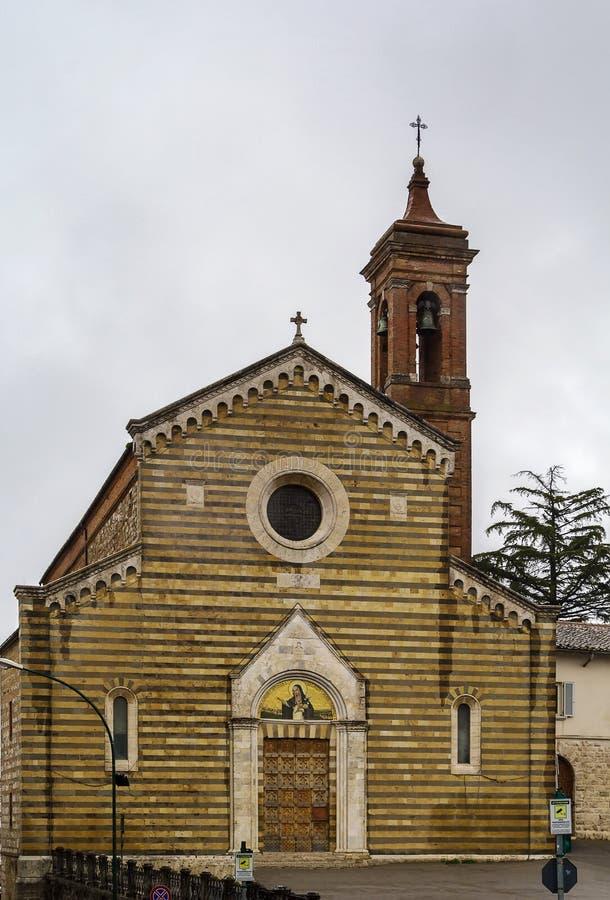 Church santa agnese di montepulciano, Italy. The Church of St. Agnese of Montepulciano was erected in 1306, Italy stock photos