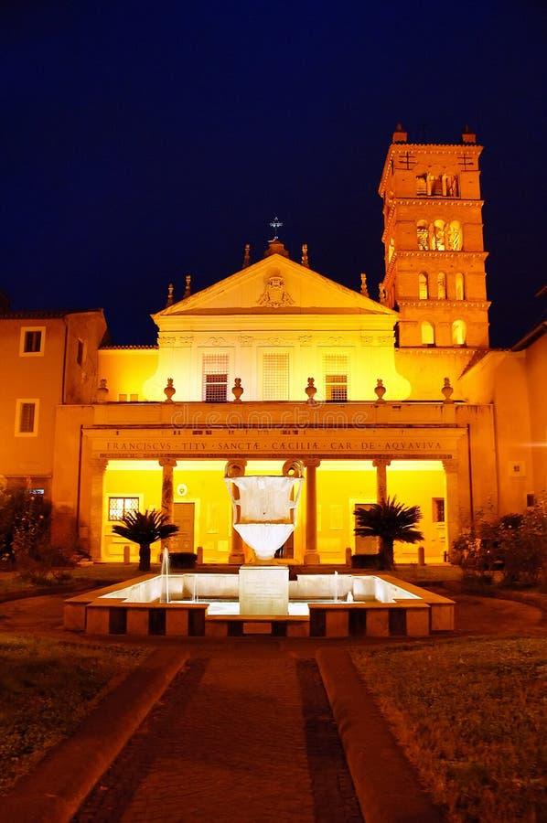 Church Santa Cecilia in Trastevere royalty free stock image