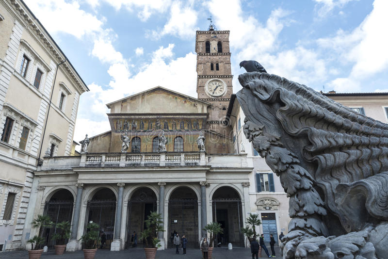 Download Church Of Santa Cecilia In Trastevere, Rome, Italy. Editorial Photo - Image of city, people: 88348651