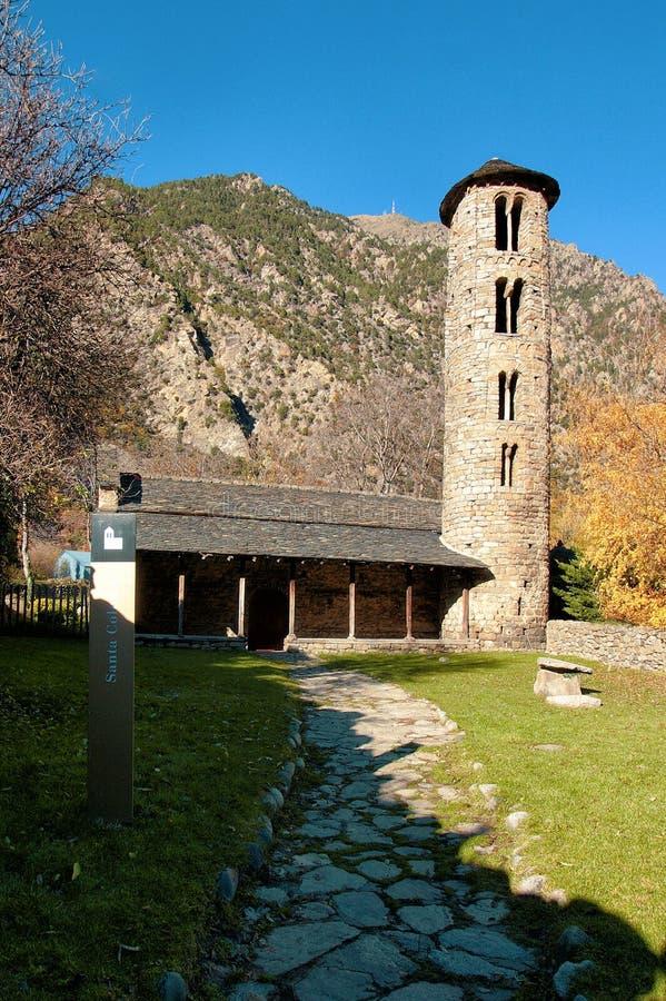 Church of Santa Coloma d`Andorra. The Church of Santa Coloma d`Andorra is a church located in Santa Coloma, Andorra la Vella Parish, Andorra, and is Andorra`s royalty free stock photo