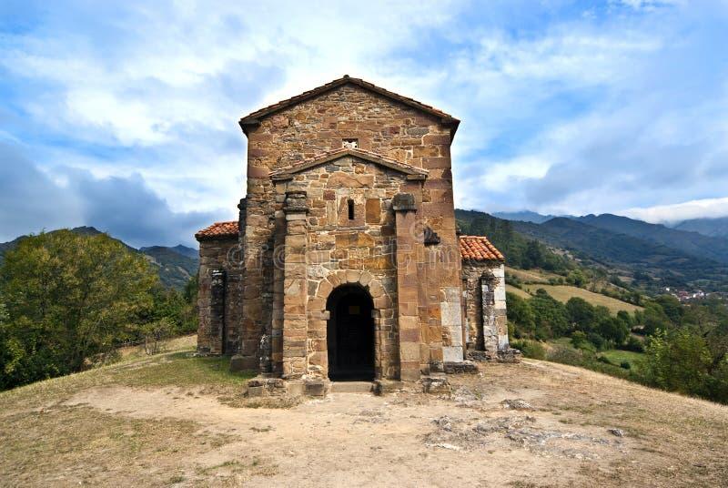 Church of Santa Cristina de Lena Oviedo. Spain royalty free stock photo