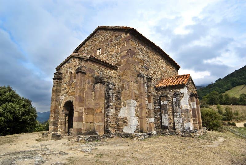 Church of Santa Cristina de Lena Oviedo. Spain stock photo