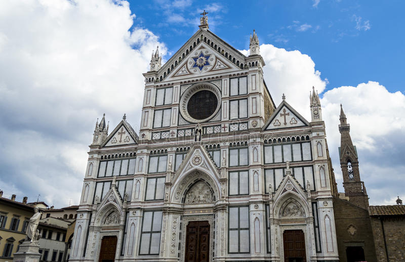 Church of Santa Croce. In Florence, Italy stock images
