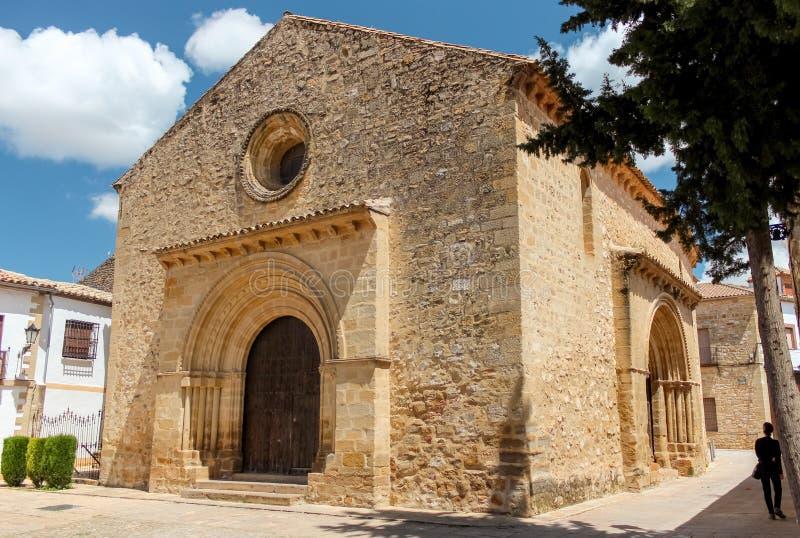View At The Church Of Santa Cruz In Baeza royalty free stock image