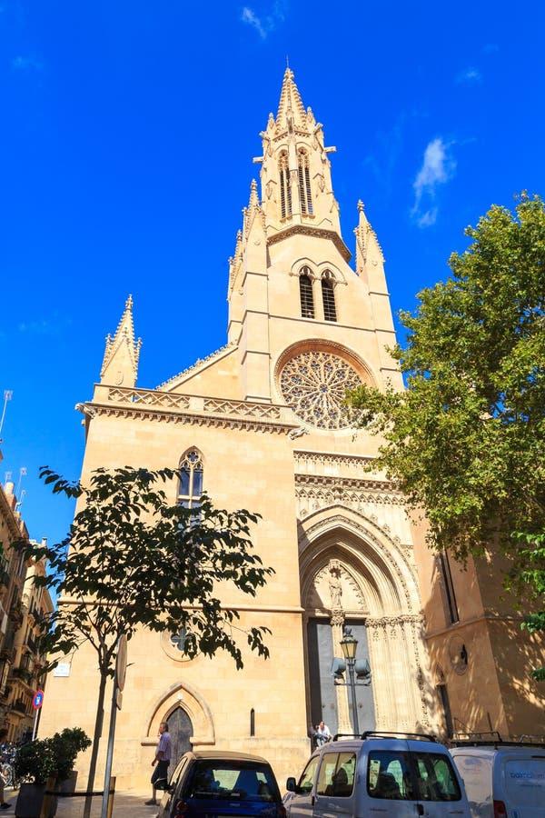 Church of Santa Eulàlia, Palma de Mallorca. Parròquia de Santa Eulàlia in Palma de Mallorca Balearic Islands stock image