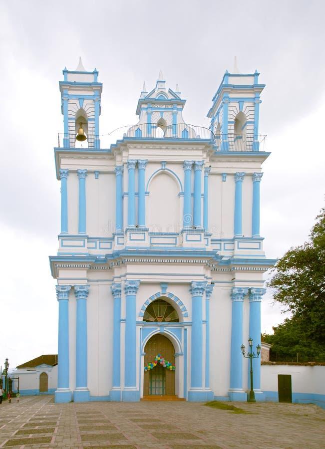 Church of Santa Lucia in San Cristobal de las Casas stock photography