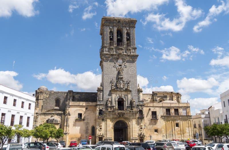 Church of Santa Maria de la Asuncion, Arcos de la Frontera, Spai royalty free stock photo