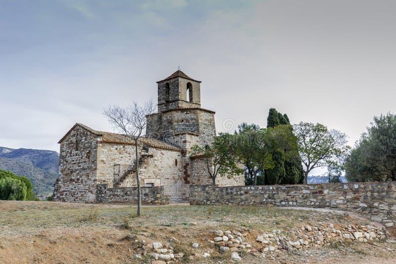 Church of Santa Maria del Puig, Esparreguera stock photos