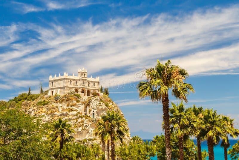 Church of Santa Maria dell`Isola in Tropea. stock image