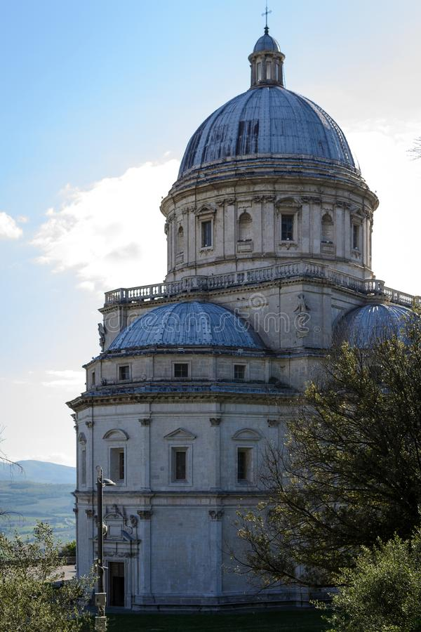 Church of Santa Maria della Consolazione in Todi Italy. Portrait format stock image
