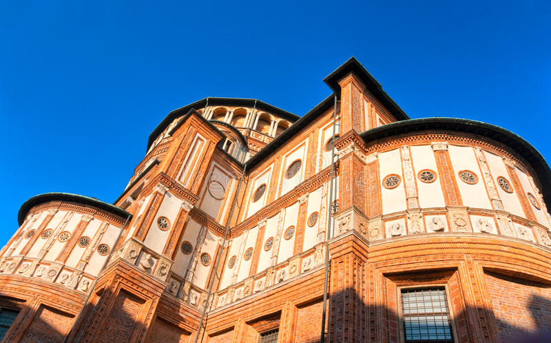 Church of Santa Maria delle Grazie, Milan, Italy, royalty free stock photos
