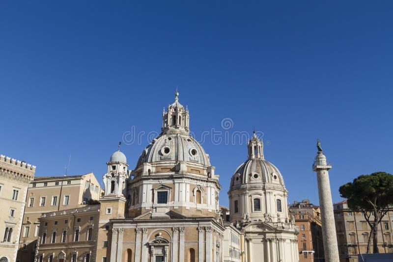 Church Santa Maria di Loreto Rome stock photo