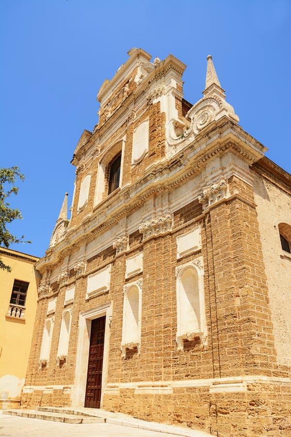 Church of Santa Teresa in the historic center of Brindisi Italy. The Church of Santa Teresa in the historic center of Brindisi Italy stock images