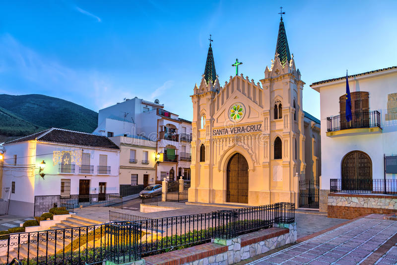 Church of Santa Vera Cruz in Alhaurin el Grande. Church of Santa Vera Cruz in the evening in Alhaurin el Grande, Malaga province, Andalusia, Spain royalty free stock photography