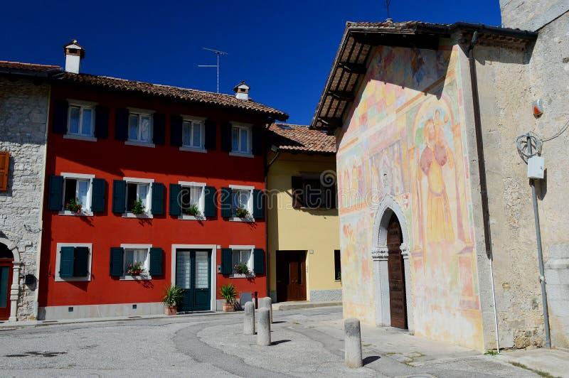 San Biagio Square  in Cividale del Friuli. The church of Santi Pietro e Biagio is a religious building in Cividale del Friuli located in the small square of San stock images