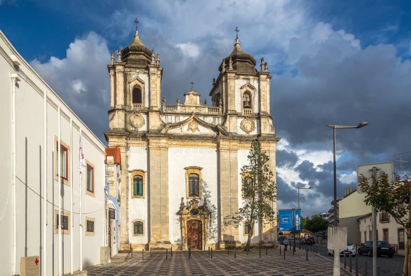Church of Santo Agostinho in Leiria - Portugal. LEIRIA,PORTUGAL - MAY 11,2017 - Church of Santo Agostinho in Leiria. Leiria is located in the Centro Region royalty free stock photography