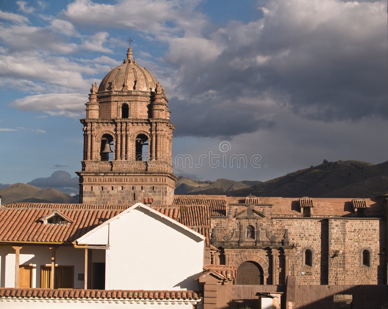 Church of Santo Domingo. Cuzco, Peru stock images