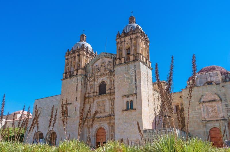 Church of Santo Domingo de Guzman. Oaxaca, Mexico stock image