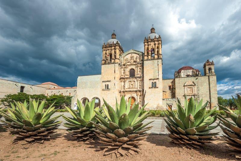 Church of Santo Domingo de Guzman in Oaxaca, Mexico. Old Church of Santo Domingo de Guzman in Oaxaca, Mexico royalty free stock image